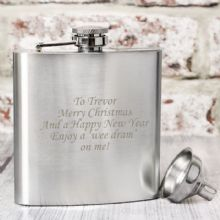 Personalised Boxed Stainless Steel Hip Flask P0102A89